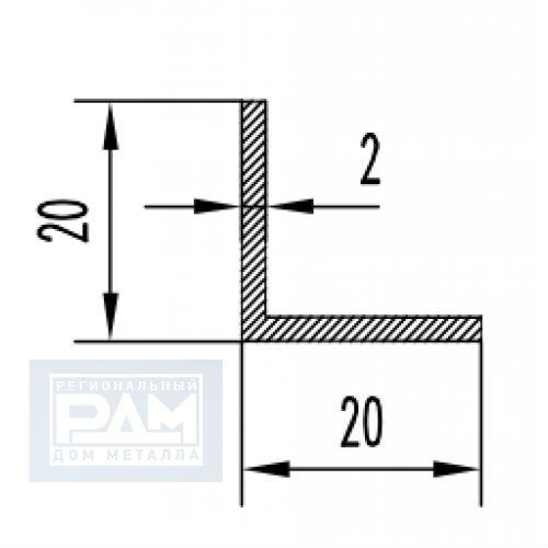 Алюминиевый уголок 20х20 рис 3