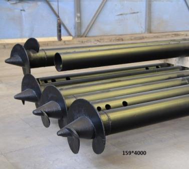 Винтовые сваи 159 мм: цена